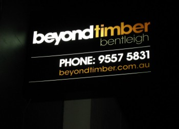 Beyond Timber Light boxes Signage
